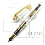 日本 Sailor 寫樂 Professional Gear 14K 透明金夾 鋼筆