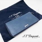 法國 S.T. DUPONT 都彭 海軍藍色 真皮手拿包 180272