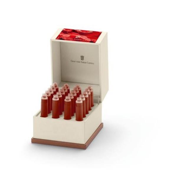 德國 Graf von Faber-Castell 20入卡式墨水禮盒(India Red 印度紅)