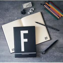Design Letters A5 個人字母筆記本(A~Z可選)
