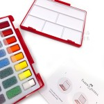 德國 Faber-Castell 輝柏 Solid Watercolours 攜帶型水彩塊套組 48色(576049)