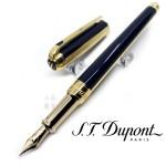 法國 S.T. DUPONT 都彭 LINE D MEDIUM系列 Windsor Blue & Gold 14K 鋼筆(新款)