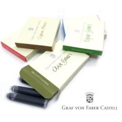 德國 Graf von Faber-Castell 6入歐規卡式墨水(六色可選)