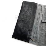 日本 PILOT 百樂 3支裝 附加拉鍊收納袋 真皮 筆袋(黑色)