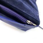 日本 PILOT 百樂 5支裝 附加拉鍊收納袋 真皮 筆袋(藍色)