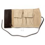 日本 PILOT 百樂 5支裝 附加拉鍊收納袋 真皮 筆袋(咖啡色)
