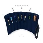小品雅集訂製 不織布8支裝筆套(深藍色)