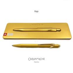 瑞士 卡達 Caran d'Ache line 849 GoldBar 金色 原子筆