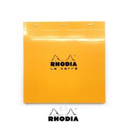 法國 RHODIA N°210 橘色上翻筆記本 210mmx210mm 方格內頁(210200C)