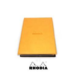 法國 RHODIA ePURE系列 橘色封套N°13上翻筆記本 方格內頁 附筆插 (118138C)