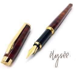 德國 elysee 愛禮 經典棕色琺瑯鋼筆