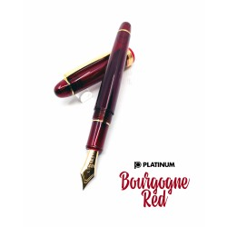 (新款)日本 Platinum 白金 #3776 Century Bourgogne 勃根地紅 14K金 鋼筆