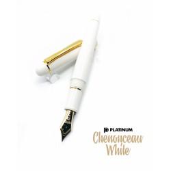 日本 Platinum 白金 #3776 Century 新色 Chenonceau White 舍農索城堡 象牙白鋼筆