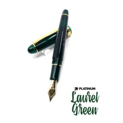 日本 Platinum 白金 #3776 Century 新色 Laurel Green 月桂綠鋼筆