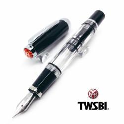 臺灣 TWSBI 三文堂 Diamond mini 半黑半透 活塞 鋼筆