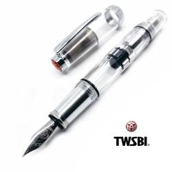 臺灣 TWSBI 三文堂 mini AL 鋁合金版透明活塞鋼筆(銀色)