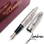 英國 Classic Pens Ltd LAMBROU 925純銀 CP8 Flamme Limited Edition(火焰紋銀夾)