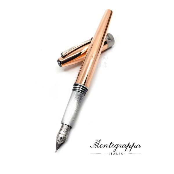義大利 Montegrappa 萬特佳 Mini Mule系列 迷你黃銅 鋼筆(買就送銅杯一只)