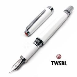 臺灣 TWSBI 三文堂 Classic 活塞鋼筆(白色)