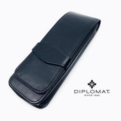 德國 DIPLOMAT 迪波曼 真皮羊皮 3支裝 筆袋