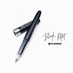 日本 Platinum 白金 Plaisir 鋼筆(霧黑筆款)