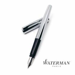 法國 Waterman 文青系列 鋼筆(鋼桿白夾)