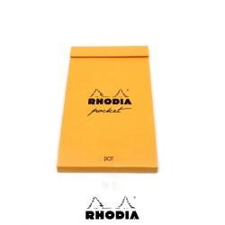 法國 RHODIA Bloc Pocket系列 橘色 上翻筆記本 點點內頁 (8558)