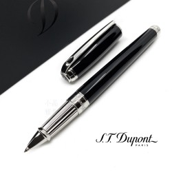 法國 S.T. DUPONT 都彭 LINE D Black lacquer & palladium 鋼珠筆(新款 LARGE系列)