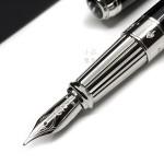 法國 S.T. DUPONT 都彭 LINE D Black lacquer & palladium 14K鋼筆(新款 LARGE系列)