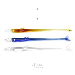 Uhome 佑鴻工藝 純手工  玻璃沾水筆 海豚系列