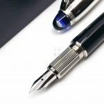 德國 Montblanc 萬寶龍 Starwalker 漂浮 藍色星球 Doué 黑桿金屬筆蓋 14K金 鋼筆