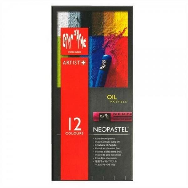 瑞士卡達 Caran d'Ache NEOPASTEL 專家級油性粉彩 (12色)