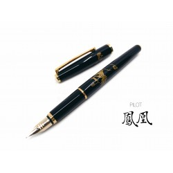 日本 PILOT 百樂 平蒔繪 14K金 鋼筆(鳳凰)