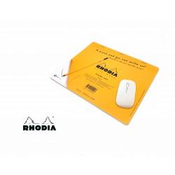法國 RHODIA Clic Bloc系列 Mouse Pad 橘色 兩用 滑鼠墊隨寫筆記本 方格內頁 (194100)