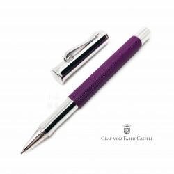 德國 Graf von Faber-Castell 繩紋飾 鋼珠筆(紫羅蘭)