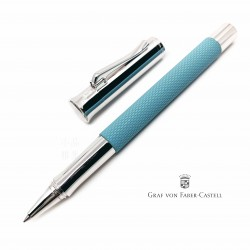 德國 Graf von Faber-Castell 繩紋飾 鋼珠筆(綠松石)