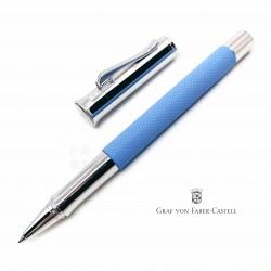 德國 Graf von Faber-Castell 繩紋飾 鋼珠筆(海灣藍)