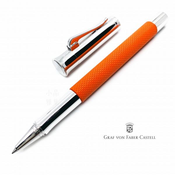 德國 Graf von Faber-Castell 繩紋飾 鋼珠筆(紅柿子)