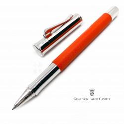 德國 Graf von Faber-Castell 繩紋飾 鋼珠筆(印度紅)