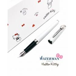法國 Waterman 雋雅系列 × HELLO KITTY 45週年 聯名款 紀念鋼筆(白色)