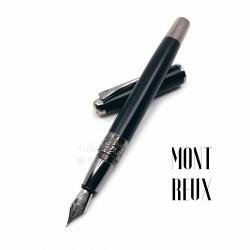 臺灣 MONTREUX 夢多 T7霧黑雕花 鋼筆(鍍鈦金素面款)