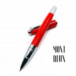 臺灣 MONTREUX 夢多 T7雕花 鋼珠筆(艷紅色)