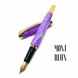 臺灣 MONTREUX 夢多 花草系列 鋼筆(Violet紫羅蘭)全花紋金夾