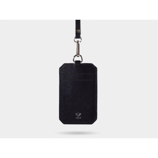 (預購商品,下單約3-5天可出貨)臺灣 SACA Vertical X badge holder 十字碳纖紋 三卡式證件套