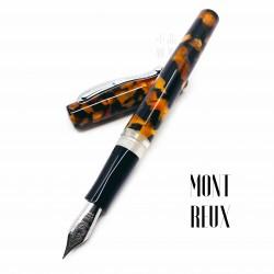 臺灣 MONTREUX 夢多 活塞上墨 鋼筆(素琥珀)
