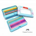 德國 Faber-Castell 輝柏 20色 三角點鑽色鉛筆 禮盒組(201641)