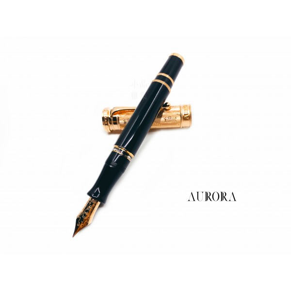 義大利 AURORA VERDI 威爾第 100週年限量款 純銀 玫瑰金 18K 鋼筆