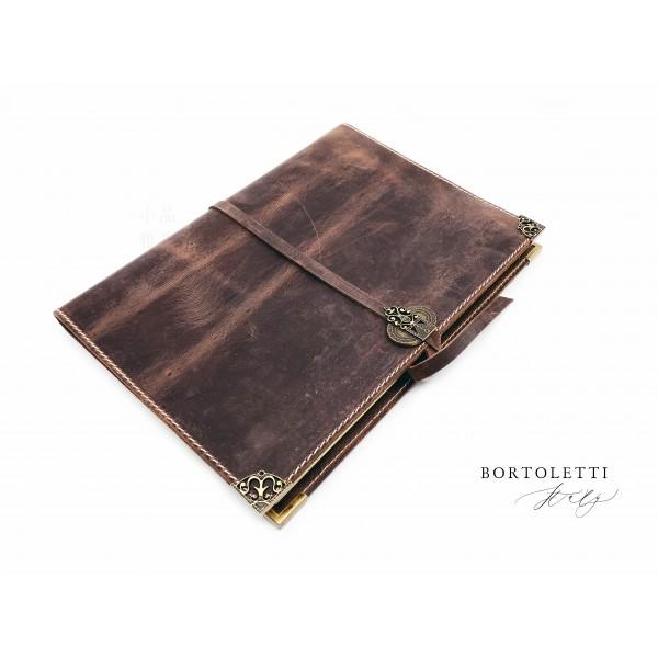 義大利 Bortoletti BC004 真皮書套 筆記本(LL號)