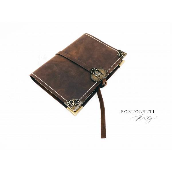 義大利 Bortoletti BC002 真皮書套 筆記本(M號)