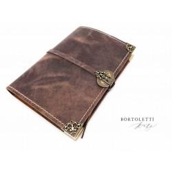 義大利 Bortoletti BC003 真皮書套 筆記本(L號)